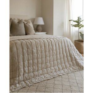 Pine Cone Hill Brussels Neutral Linen Quilt King